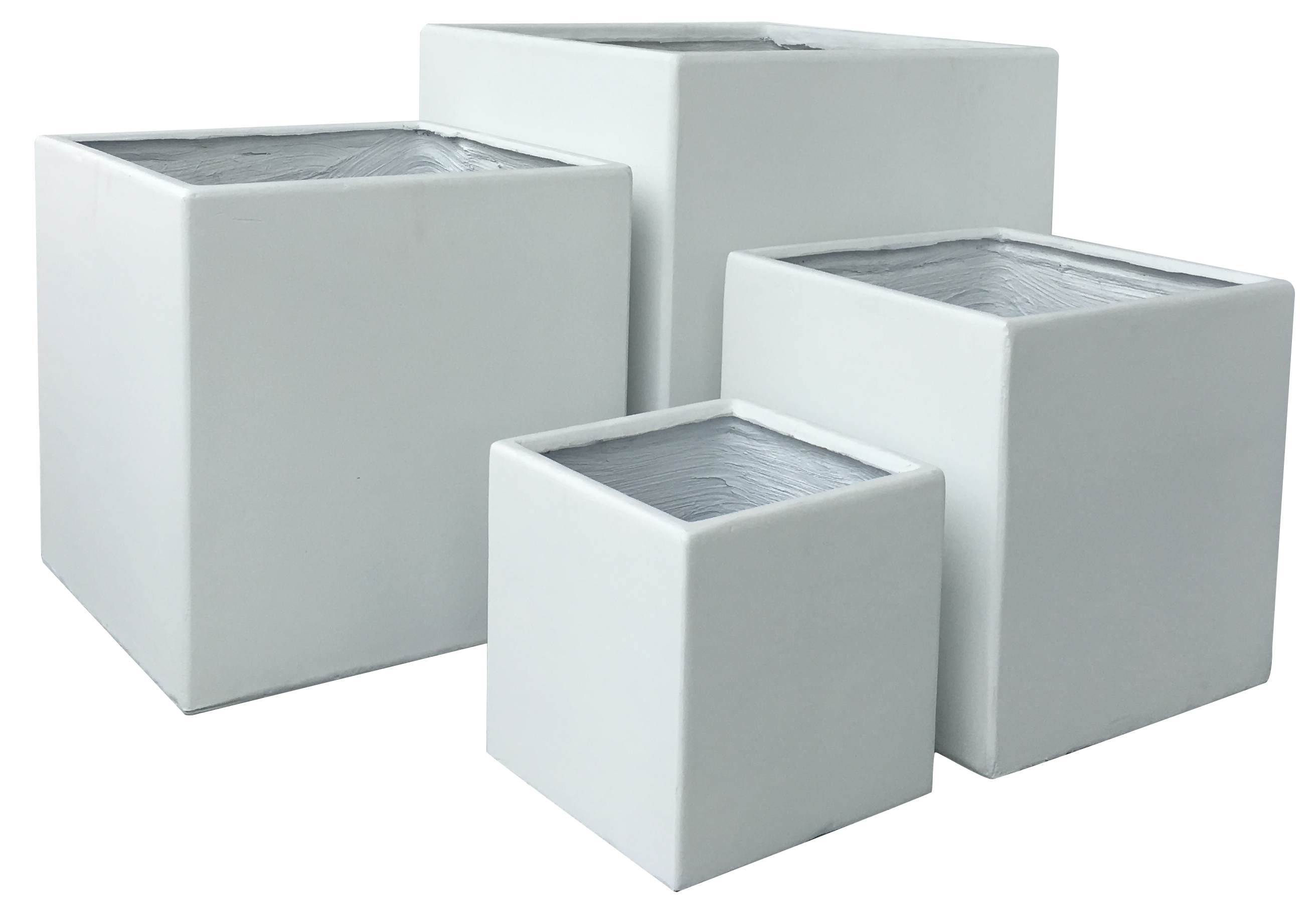Pflanzkübel Steinoptik Lounge Cube Pot Set White Andalusien Vintage White Pflanztopf Set Quadratisch In Weiß 4er Set