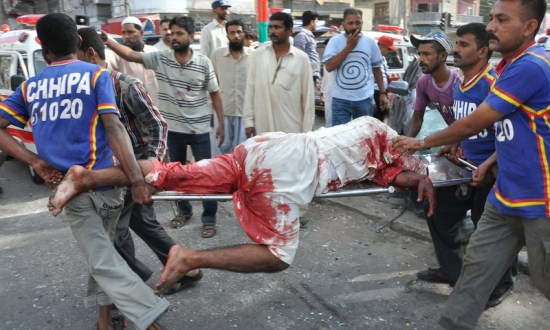At least six killed in a bomb explosion in Karachi