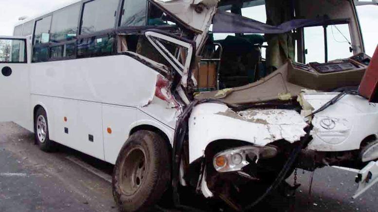 В Калининграде произошло ДТП при участии двух автобусов