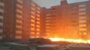 В Иркутске загорелась строящаяся парковка на стройплощадке жилого комплекса(фото)