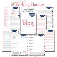 Free Printable 2015 Blog Planner