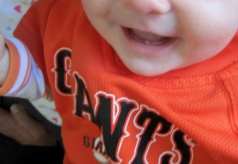 Abigial's 1st Tooth - 3.5 Months