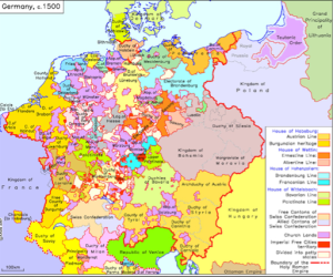 Germany around 1500. Source: humboldt.edu