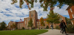 Ayers Hall in the Fall