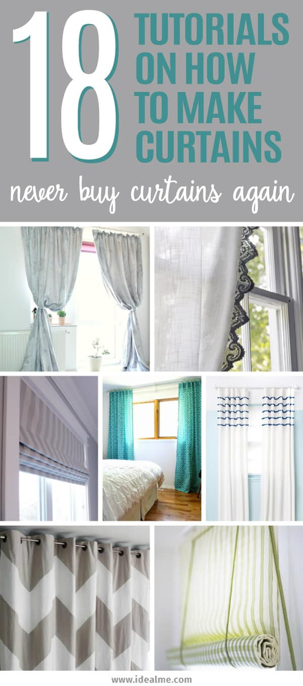 Make Curtains 18 Tutorials On How To Make Curtains Ideal Me