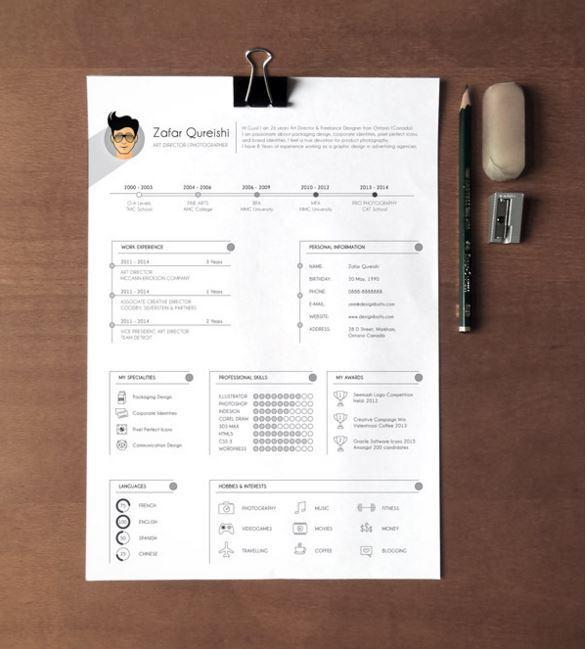 21 Free Creative Resume Templates to Consider - 85ideas