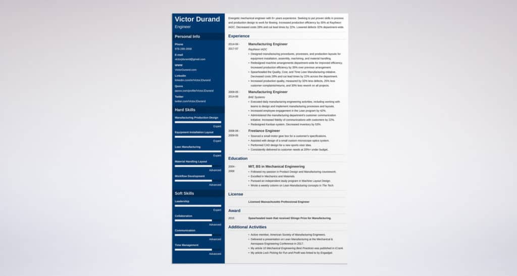 word resume template cascade