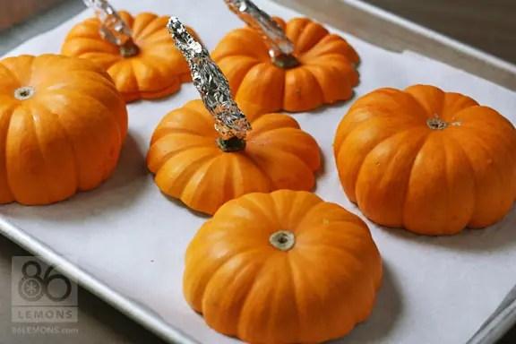 Harvest Vegetable Stew in Mini Pumpkins (vegan, gf)