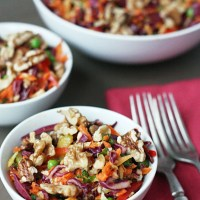 Crunchy Walnut Coleslaw (vegan, gf, raw)