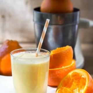 Orange Creamsicle Smoothie #vegan #glutenfree  #minneola #juice 86lemons.com