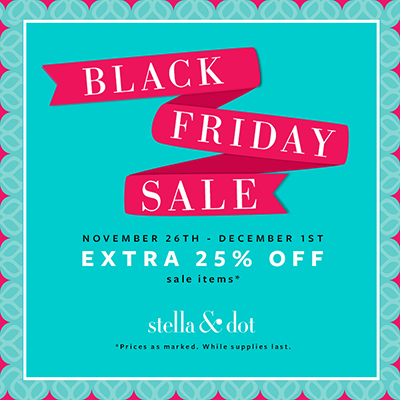 Stella & Dot Black Friday Sale #sale #blackfriday #jewelry #accessories #fashion #stelladot #stelladotstyle