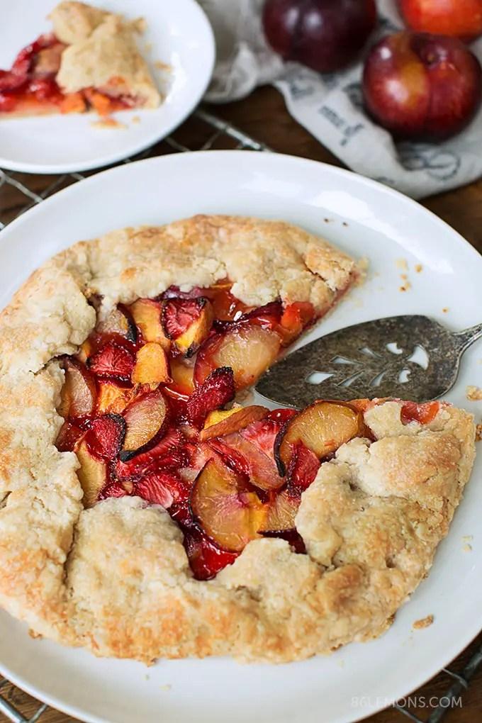 Summer Fruit Galette (vegan, gluten-free) 04