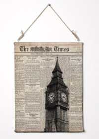 Print On Canvas. Big Ben And Newspaper. London Wall Art
