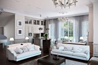 White classic living room design