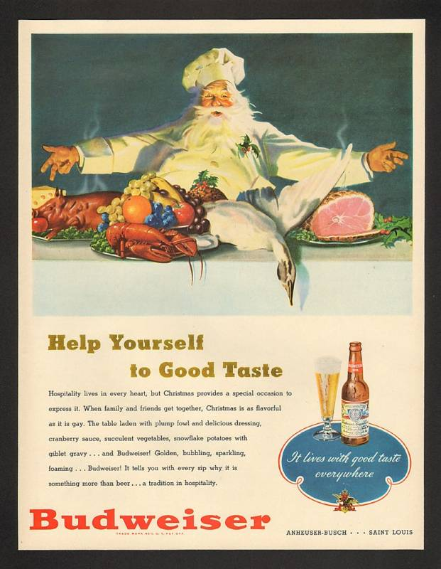 Happy Holidays -Retro Review Santa Beer Ads Dec. 20 2011 (3/6)
