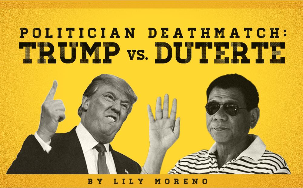 Politician Deathmatch: Trump VS Duterte