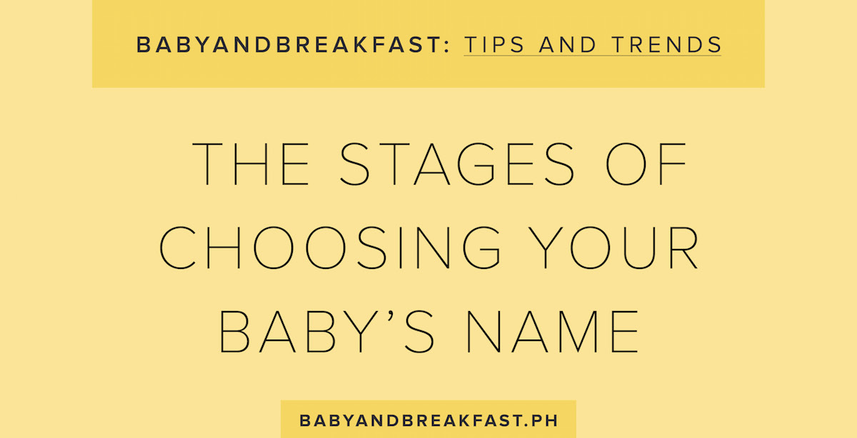 Stages of Picking Baby Names Philippines Mommy Family Blog