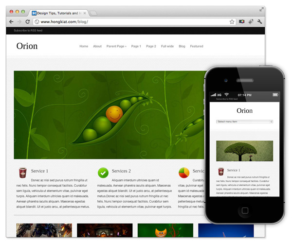 25+ Selected Free Responsive Wordpress Themes