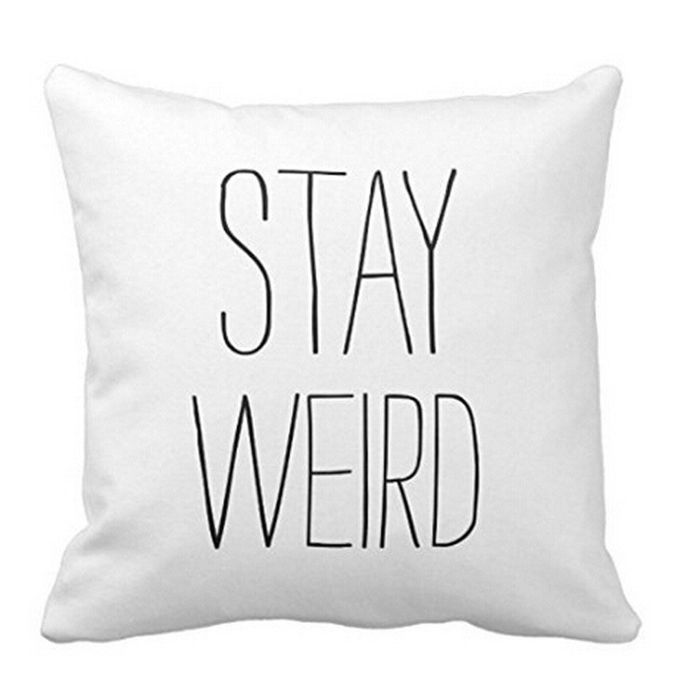 Sofa Quotes Bokoli Sofa Bed Home Decor Funny Quotes Cushion Cover Stay Weird