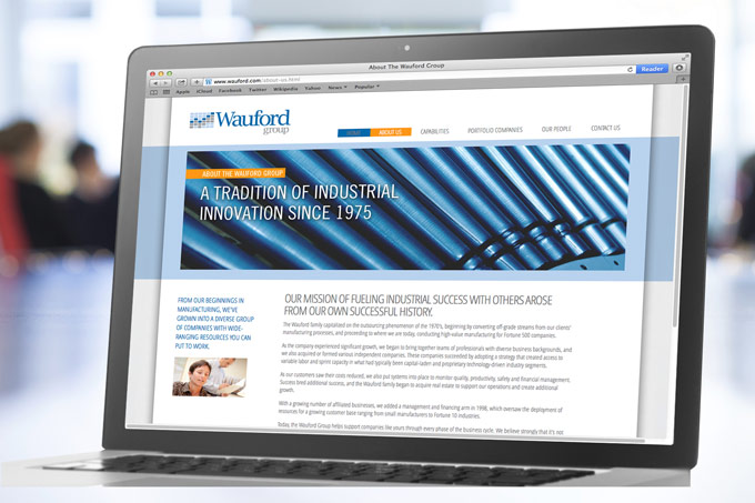 Wauford Group Logo And Website Design.