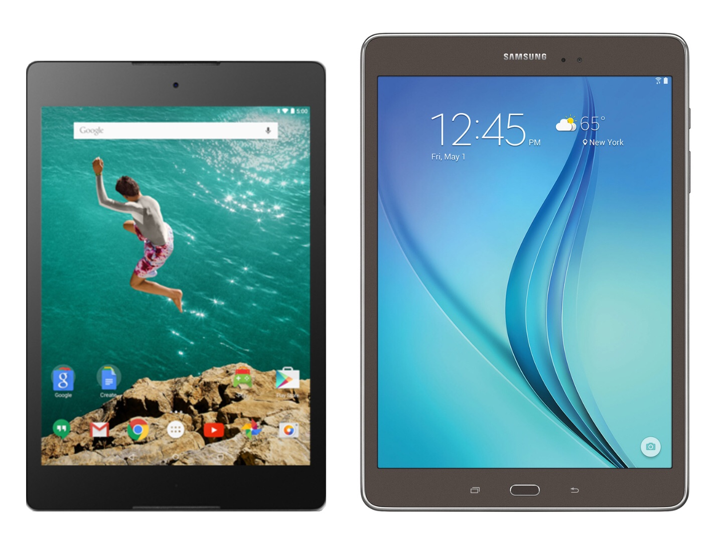 Galaxy Tab 9.7 Samsung Galaxy Tab A 9 7 Vs Htc Nexus 9