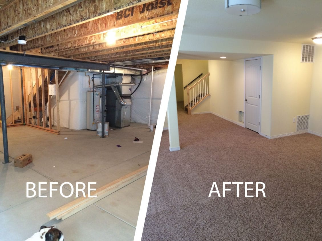 finished basement before and after natashamillerweb rh natashamillerweb com finished basement before and after
