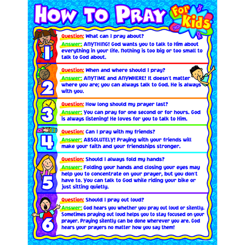 How to pray for kids Sunday school, Bible and Youth - progress chart for kids