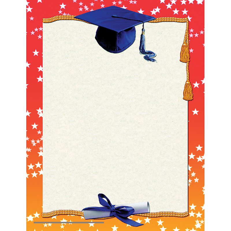 GRADUATION CERTIFICATE BORDER Certificates - H-VA658 - graduation certificate