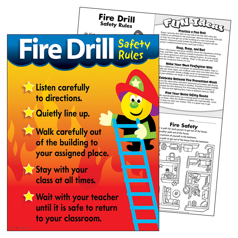 Chart fire drill safety rules Safety rules, Fire safety and Safety - safety manual