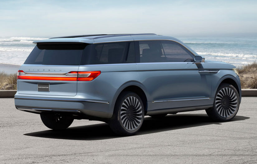 Lincoln navigator concept has gullwing doors and a