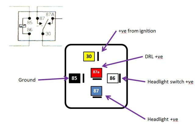 led daytime running lights wiring diagram