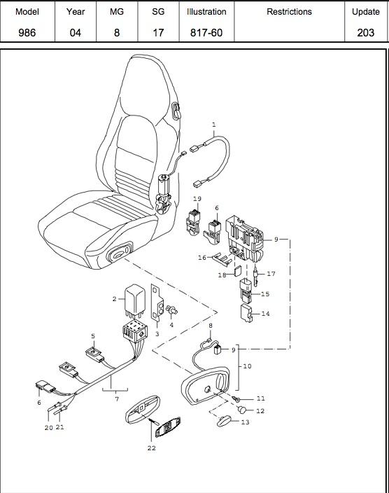 2001 Porsche Boxster Fuse Diagram - Wiring Diagrams Collections