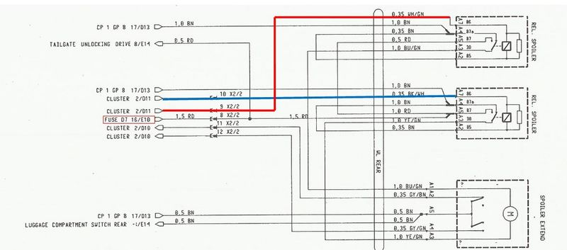 Wiring Diagram for Rear Wing - Page 2 - 986 Forum - for Porsche