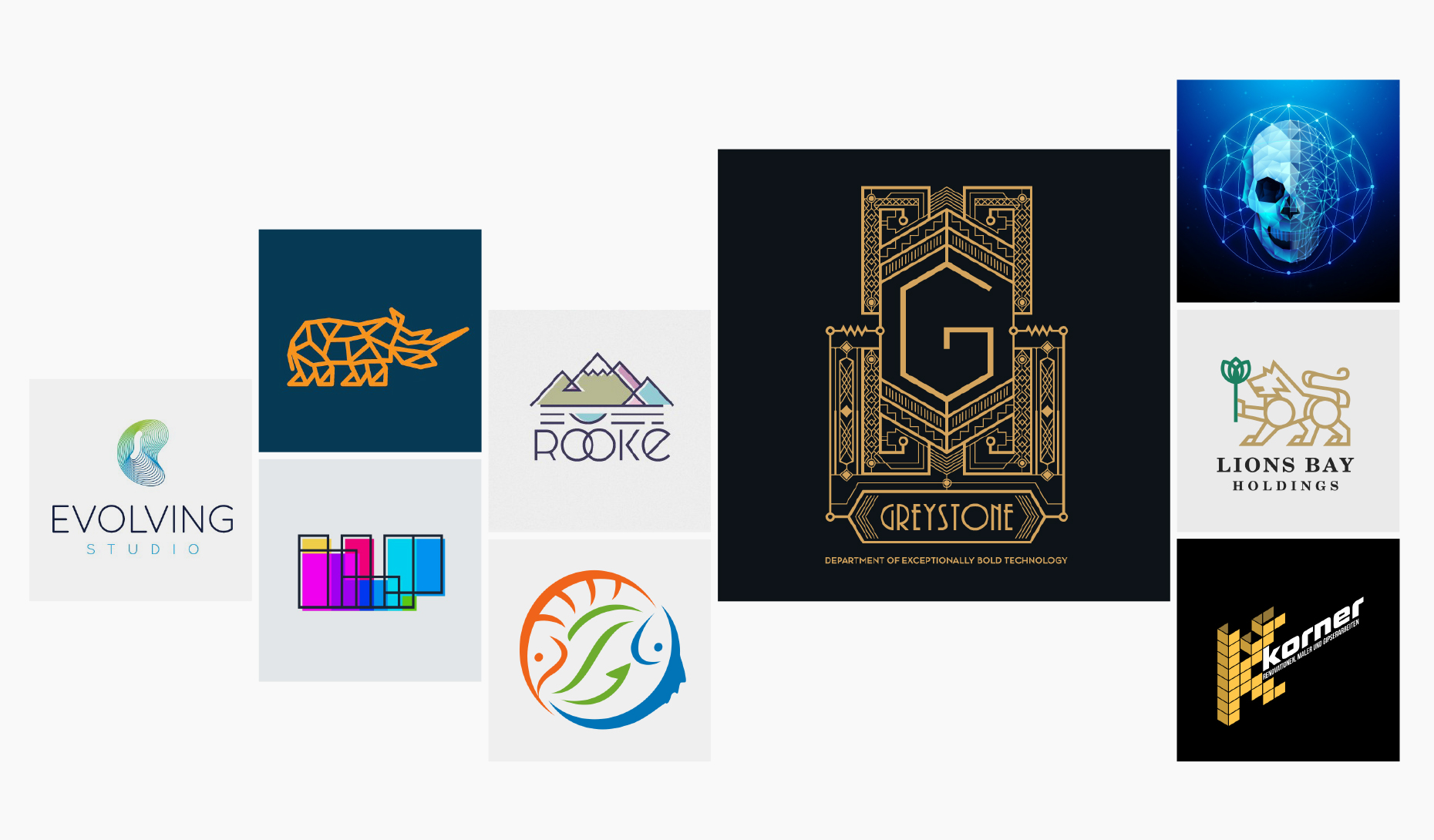30 Geometric Logos That Measure Up 99designs