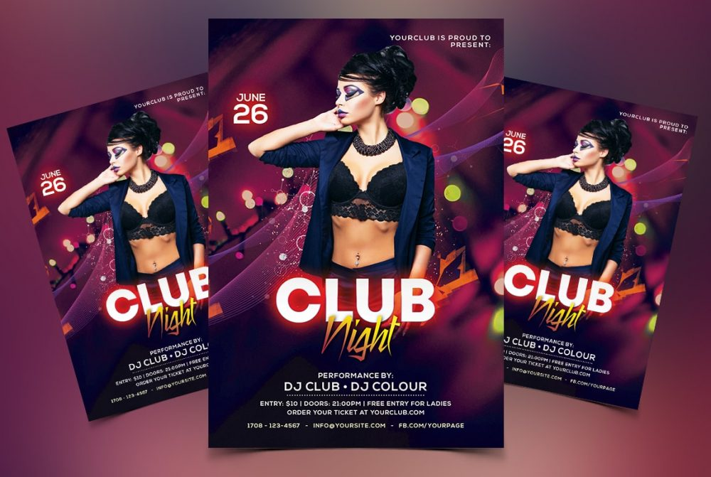 Color Club Night Free PSD Flyer Template - 99Flyers
