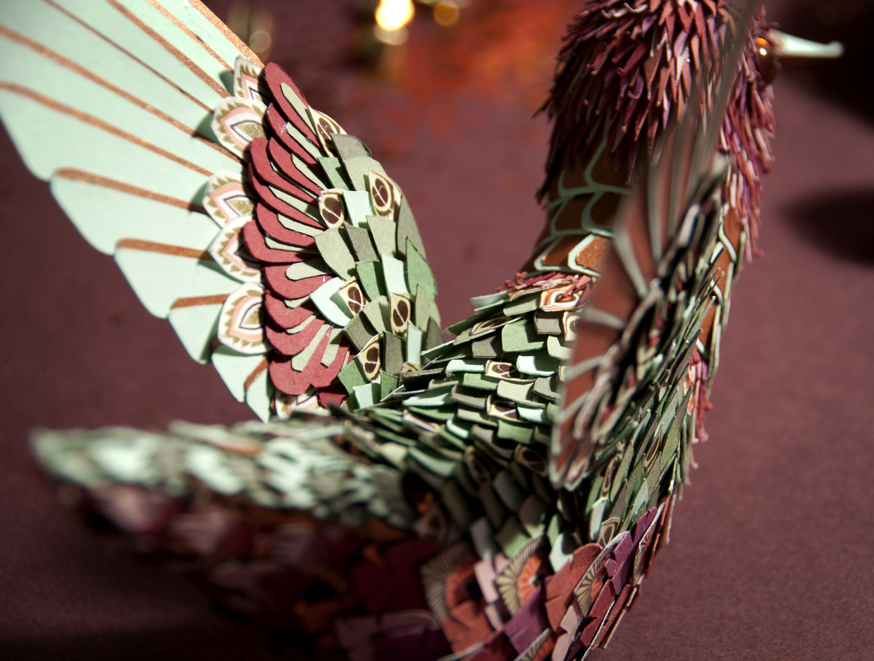 Paper Bird Sculpture Story From A Paper Papercraft Art Design 99inspiration
