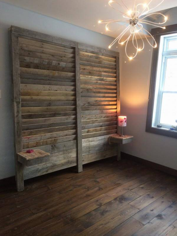 Metall Nachttisch Pallet Wall Headboard | 99 Pallets