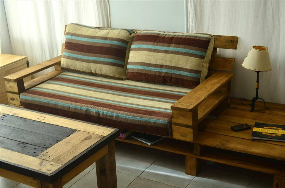 Sofa De Palets Interior Beautiful Pallet Sofa With Coffee Table | 99 Pallets