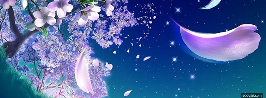 floating petals creative Photo Facebook Cover