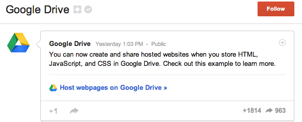 Share Websites Google Drive Now Allows Web Developers To Create And Share Hosted