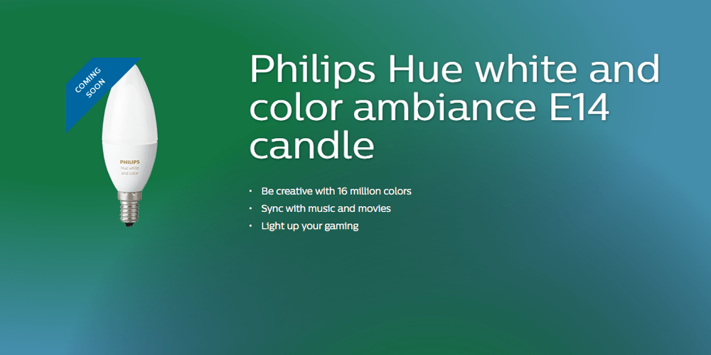 Hue Fitting Philips Hue Range Being Extended To E14 Candle Bulbs From Next