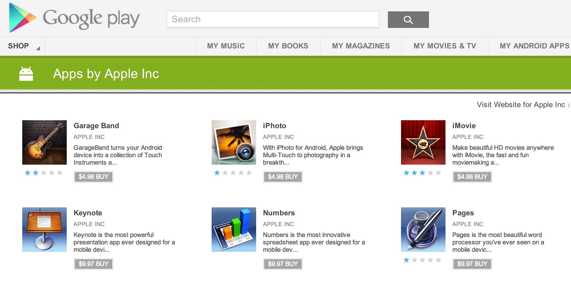 Garageband On Android Fake Apps From Apple Inc End Up On Google Play Market For