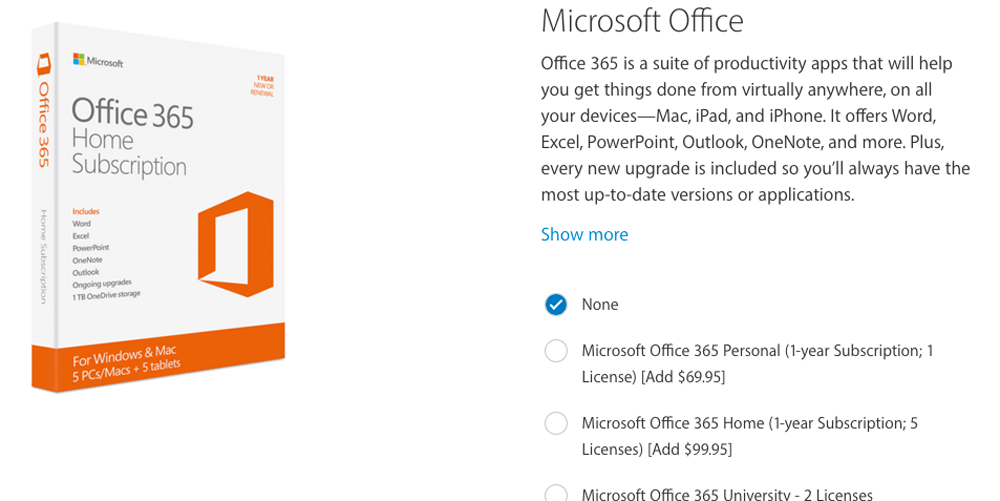 Mircrosoft Office 365 Surprisingly The Online Apple Store Now Presents Microsoft Office