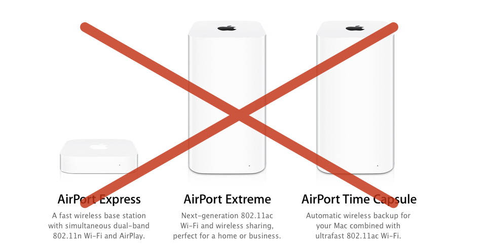 Red 1 Next To Time Capsule Apple Reportedly Stops Developing Airport Wifi Router