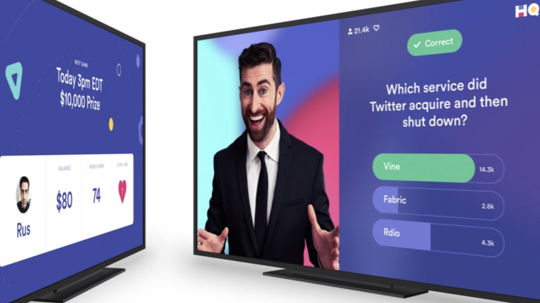 Live Hq Hq Trivia Brings Live Trivia Game Show With Cash Prizes To The