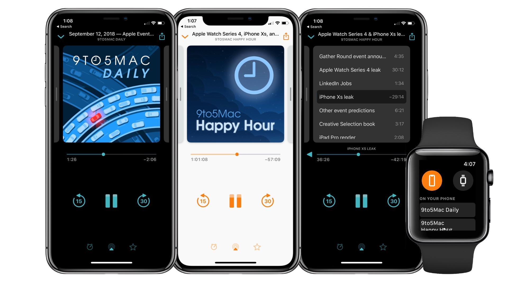 Einrichten Design App Overcast 5 Brings Apple Watch Playback New Now Playing Design
