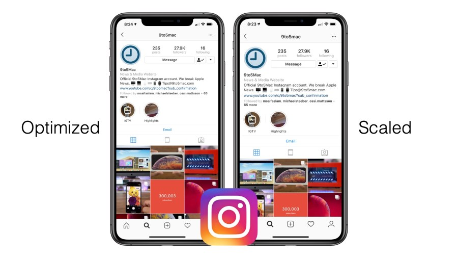 Instagram updated for iPhone XS Max and iPhone XR