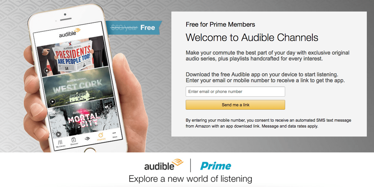 Audible App By Amazon Amazon Bolsters Prime Memberships With Access To Audible