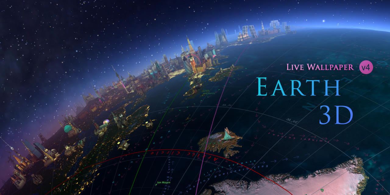 Earth And Moon 3d Live Wallpaper Earth 3d Interactive Wallpaper App For Mac Drops To Just