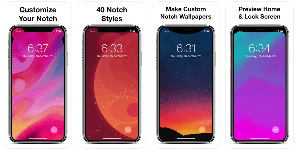 Iphone X Notch Wallpaper App Get A Custom Notch For Your Iphone Xs Max R While It S